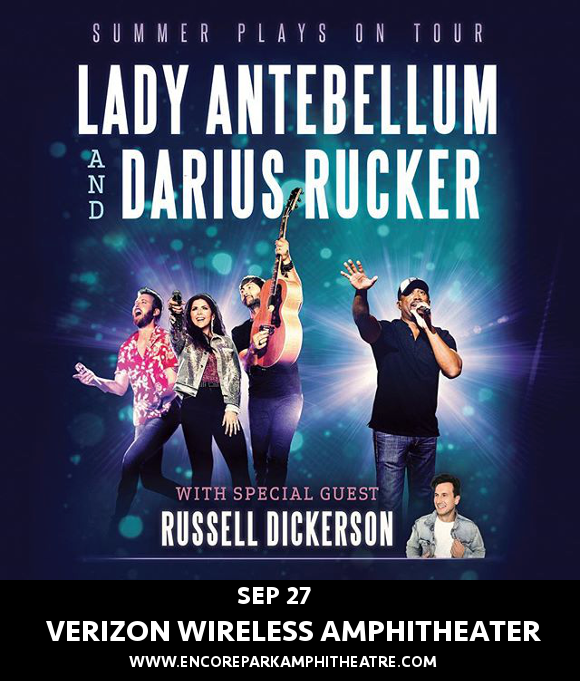 Lady Antebellum, Darius Rucker & Russell Dickerson at Verizon Wireless Amphitheatre at Encore Park