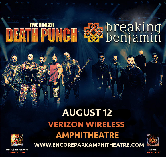 Five Finger Death Punch & Breaking Benjamin at Verizon Wireless Amphitheatre at Encore Park