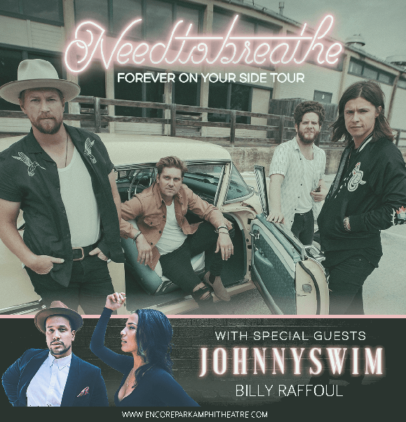 Needtobreathe, Johnnyswim & Billy Raffoul at Verizon Wireless Amphitheatre at Encore Park