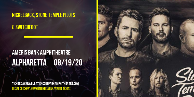 Nickelback, Stone Temple Pilots & Switchfoot at Ameris Bank Amphitheatre