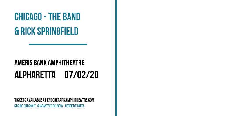 Chicago - The Band & Rick Springfield at Ameris Bank Amphitheatre
